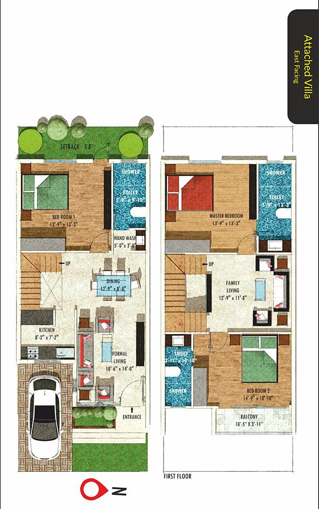 The Commune Floor Plans Commune Villas Comes With Semi